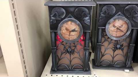 Fleet Farm Halloween 2018 Animated Haunted Grandfather Clock