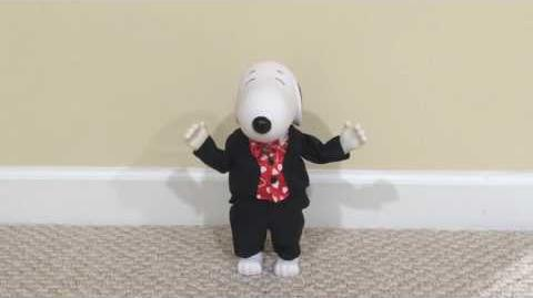Gemmy 1998 Animated Standing Dancing Snoopy ''Crazy Little Thing Called Love''