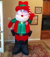 Gemmy Prototype Christmas Santa Cowboy Inflatable Airblown