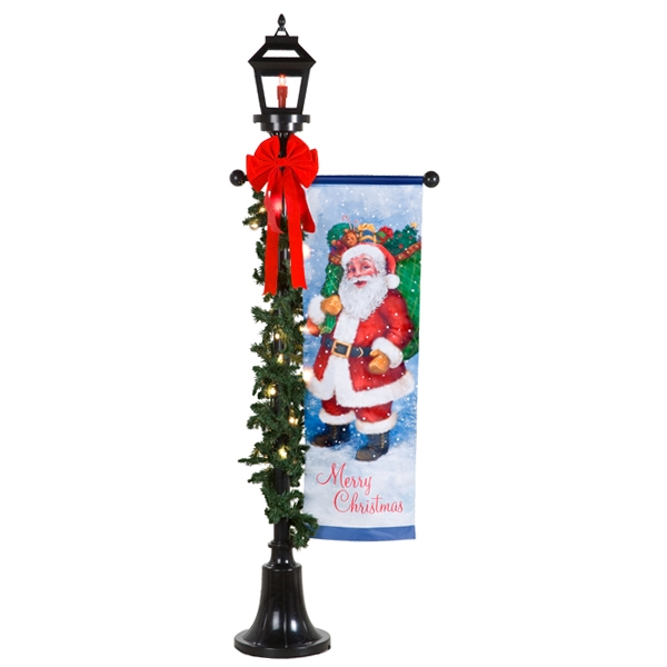 outdoor holiday lamp post - Christmas Lamp Post Decoration