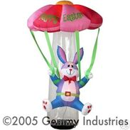 Airblown Inflatable Bunny With Parachute