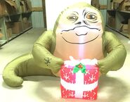 4ft Gemmy Airblown Inflatable Christmas Star Wars Jabba w Present Prototype