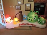 Gemmy inflatable Angry Birds christmas scene