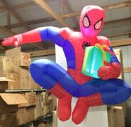 4ft Gemmy Airblown Inflatable Christmas Hanging Spider Man Prototype