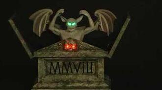 Animated Raising Gargoyle Tombstone