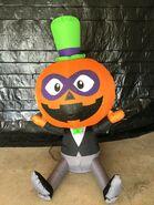 Gemmy Prototype Halloween Inflatable Pumpkin In Suit