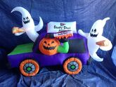 Gemmy inflatable halloween pizza truck