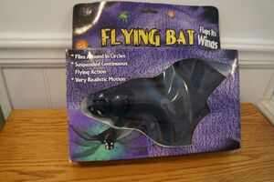 Vintage Gemmy FLYING BAT Halloween Spooky party NEW Old Stock Animated PROPS