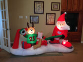 Gemmy inflatable christmas hockey game