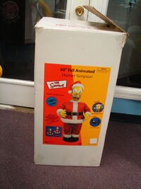 Gemmy 50'' Tall Animated Singing Santa Claus Homer Simpson 5
