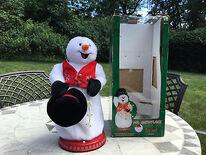 Gemmy-Spinning-Snowflake-Snowman-Red-Mr-Snowflake-Rare