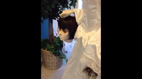 Gemmy life size beheaded bride