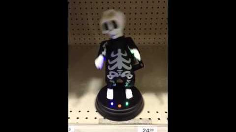 Menards Halloween 2014 Gemmy Grooving Ghoulies Skeleton