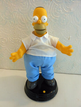The simpsons 2002 animated singing and dancing homer simpson figure