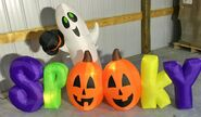 Gemmy Prototype Halloween Inflatable Ghost With Boo Sign