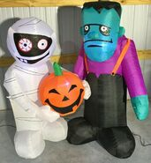 Gemmy Prototype Halloween Inflatable Mummy And Monster