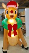 9ft Gemmy Airblown Inflatable Christmas Rudolph w Wreath Prototype
