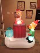 Gemmy inflatable Simpsons Christmas chimney scene