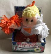 Vintage Gemmy All American Cheerleader Blond Varsity Orange Texas Tennessee