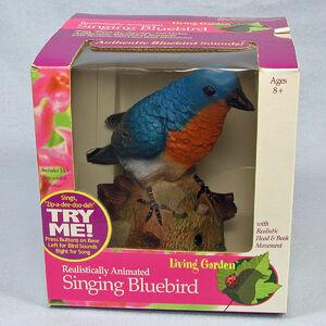 Gemmy Chirping Singing Zip-a-dee-doo-dah Bluebird Musical Bird Original Box