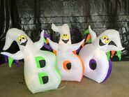 Gemmy Prototype Halloween Inflatable Ghosts With Boo Sign