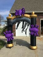 Gemmy Prototype Halloween Inflatable Spider Archway