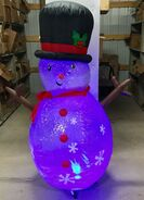 6ft Gemmy Airblown Inflatable Christmas Clear Projection Snowman Prototype