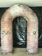 Gemmy Prototype Halloween Inflatable Pillar Archway