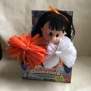 Vintage Gemmy All American Cheerleader Brunett -1 Orange Texas Tennessee
