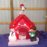 Gemmy inflatable snoopy's snow machine