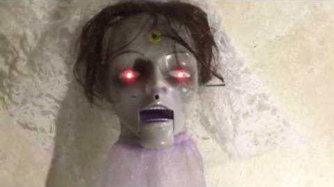 Gemmy Animated Halloween Hang Up Bride
