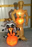 Gemmy Prototype Halloween Inflatable Groot & Rocket