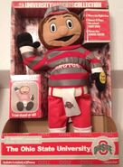 JC penny exclusive vintage ohio state OSU Brutus dancing mascot doll