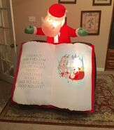Gemmy Prototype Santa with Night Before Christmas Book Inflatable Airblown
