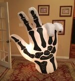 Gemmy Prototype Halloween Skeleton Hand Inflatable Airblown