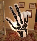 Gemmy Prototype Halloween Skeleton Hand Inflatable Airblown