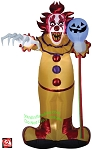 Scary Halloween Clown Balloon Gemmy Airblown Inflatable Yard Decoration Halloween 221306 thumbnail