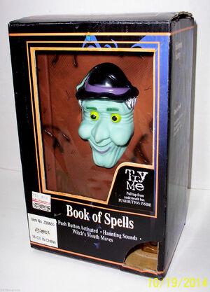 1996 Gemmy BOOK OF SPELLS ANIMATED TALKING WITCH HALLOWEEN DISPLAY PROP NEW