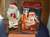 Animated Santa at his desk