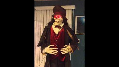 Gemmy life size coachman skeleton