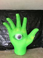 Gemmy Prototype Halloween Inflatable Animated Green Eye Hand