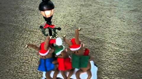 Caroling Reindeer Trio