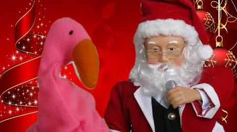 Gemmy Hip Swinging Microphone Santa - Here come's Santa Claus (CHRISTMAS)