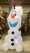 8ft Gemmy Airblown Inflatable Christmas Projection Snowflurry Olaf Prototype 2