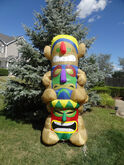 RARE Gemmy Inflatable Airblown 8 Foot Tiki Totem Pole Luau Hawaii Party Light Up