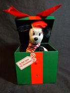 Christmas Jack in the Box Black Dog Talks Motion Activated GEMMY