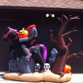 Gemmy Inflatable Sample Prototype Halloween Headless Horseman