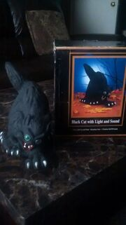 Halloween Factory (Gemmy) Vintage Black Cat with Lights and Sound (Ultra Rare)
