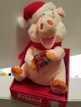 Xmas-Animated-Toy-Musical-OINKING-SINGING-Pig-CHRISTMAS