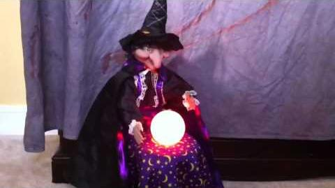 *Halloween Animated Fortune Teller Witch By Gemmy*